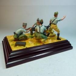 (X-14) La Legión Grupo ametralladora guerra civil española