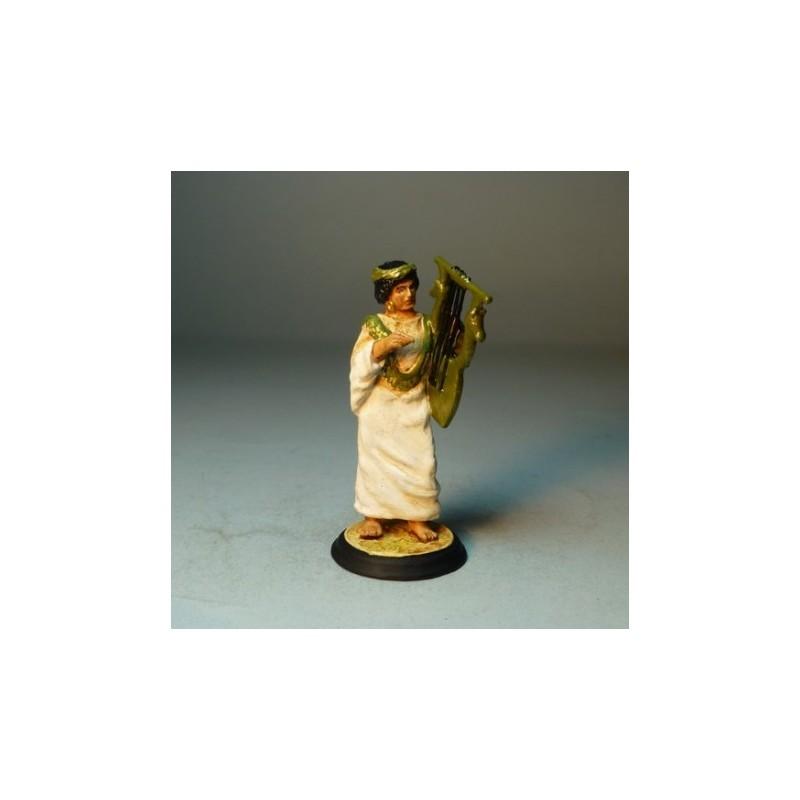 Mujer con Arpa Egipcia