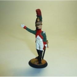Oficial del 4º de Dragones Francia 1804-1805