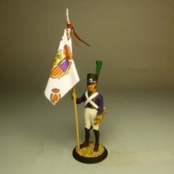 Abanderado del Batallón Provincial de Zaragoza 1808